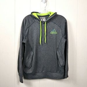 Adidas pullover Climawarm Hoodie  grey/green Sz. S